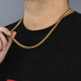 Cadena Franco con Acabado de Oro de 18K de 5mm