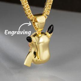 Colgante Elfo lindo del rayo con Diamantes de Oro