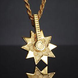 Colgante de Estrella de Mar Giratorio de Oro con Diamantes