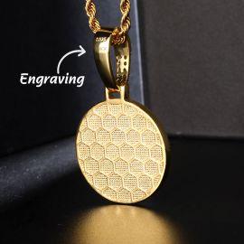 Colgante de Oro con Bola de Siete Estrellas con Diamantes