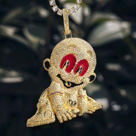 Colgante de Bebé de Oro con Diamantes