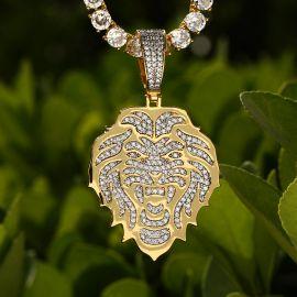 Colgante de Cabeza de León de Oro