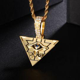 Juego de colgante y pendientes de la Pirámide Egipcia Ojo de Horus