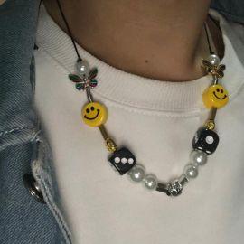 Juego de collar de perlas de rapero de moda