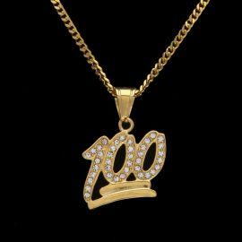 Colgante 100 de Oro con Diamantes