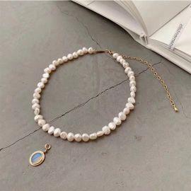 Collar de Perlas Barrocas con Colgante de Piedra Lunar de 11mm