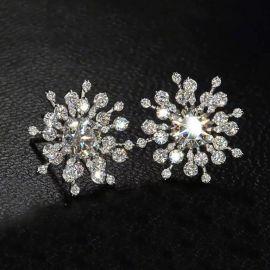 Pendientes con forma de Copo de Nieve con Diamantes