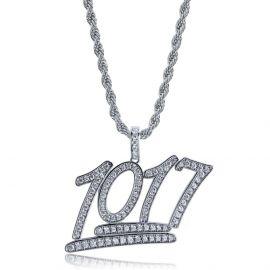 Colgante de Números 1017 de Moda con Diamantes