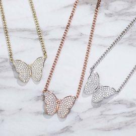 Collar Cubano de Mantequilla con Diamantes