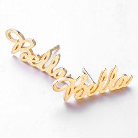Pendientes de Letras Personalizadas de Oro