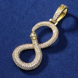 Colgante Serpiente de Mamba en forma de ¨8¨ de Oro con Diamantes