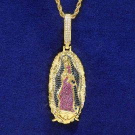 Colgante de Nuestra Señora de Guadalupe de Oro