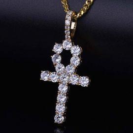 Colgante Ankh de Oro con Diamantes