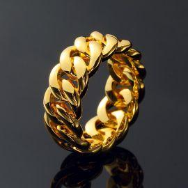 Anillos Cubanos de 10mm de oro