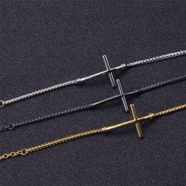 Brazalete Franco de Acero de Titanio con Cruz de 3,4 m