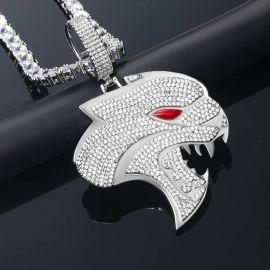 Colgante en forma de Pantera de Plata con Diamantes