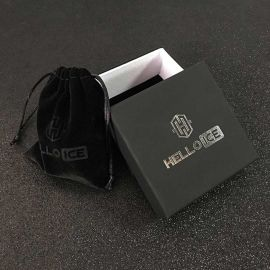 Juego de Cadena de Tenis con Piedras Negras de 5 mm +Juego de Pendientes de Aro