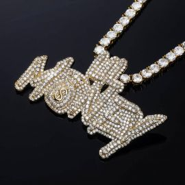 Colgante de Oro con Diamantes en forma de Lil Money