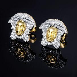 Pendientes de Oro con Diamantes con Diseño de Medusa
