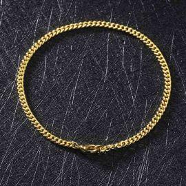 Pulsera Cubana de 3mm de Oro