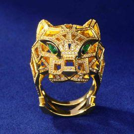 Anillo de Leopardo de Oro con Diamantes