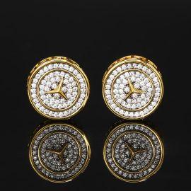 Pendiente de Estrella de Tres Puntas con Diamantes