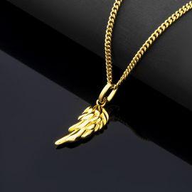 Colgante en Forma de Alas de Ángel de Oro