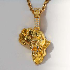 Colgante de león rugiente del mapa de África