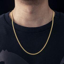 Cadena Cubana de 3 mm de Oro