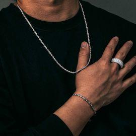 Juego de Cadenas de Cuerda de Eslabones de 3mm de Plata