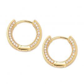 Pendiente de Aro de Oro con Diamantes para Mujer