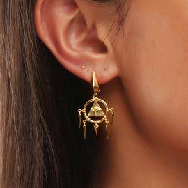 Pendientes Colgantes Ojo de Horus de Oro para Mujer