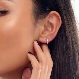 Pendientes de Aro con Diamantes para Mujer