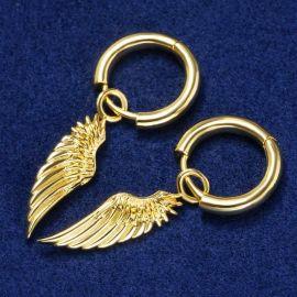 Pendientes en forma de Alas de Ángel de Oro para Mujer