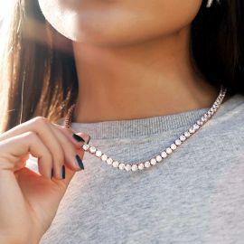 Cadena de Tenis de 5 mm para Mujer de Oro Rosa