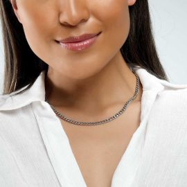 Cadena Cubana de Acero Inoxidable de 5 mm para Mujer