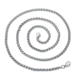 Cadena Franco de 2.5 mm de Plata para Mujer