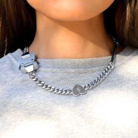 Cadena Cubana de la Hebilla del Cinturón de las Letras de Encargo con la Cara de la Sonrisa, Dólar, Señal del Corazón Quebrado para Mujer
