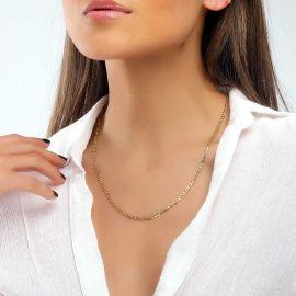 Cadena Figaro de Oro de 3 mm para Mujer