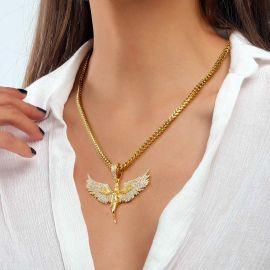 Colgante de Ángel de Oro para Mujer