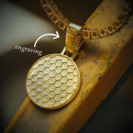 Colgante con Diamantes de Oro con Diseño de Medusa para Mujer