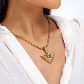 Colgante de Ojo de Horus de Pirámide Egipcia para Mujer