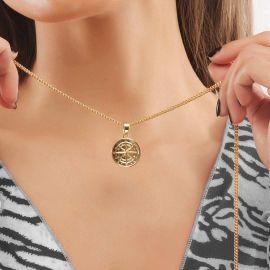 Colgante de Brújula de Oro para Mujer