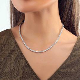 Collar de Tenis de 3 mm de Plata para Mujer