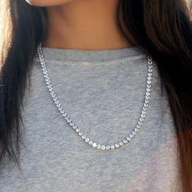 Collar de Tenis de 5 mm de Plata para Mujer