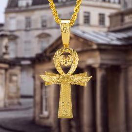 Colgante Ankh Egipcio con Ojo de Horus de Oro