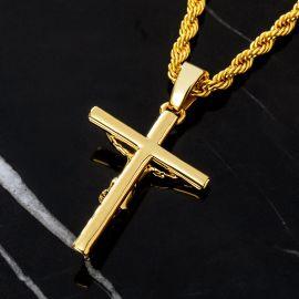 Colgante Crucifijo Cruz de Oro