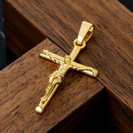 Colgante de Cruz Crucificada de Oro