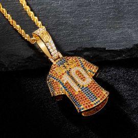 "Colgante de Jersey ""10"" de Oro con Diamantes"
