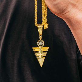 Colgante Ojo de Horus Triángulo de Oro